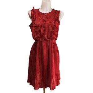 Beautiful Red Retro Dress size Medium - R-01